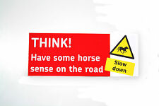 THINK HORSE Car or trailer decal bumper sticker (03-01)