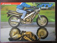 BROCHURE CATALOGUE 1995 MOTO HONDA NTV 650