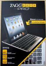 ZAGG Keys PRO Bluetooth Keyboard for Apple iPad 2 / iPad 3/ iPad 4 - Aluminum