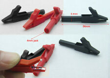 2PCS 2 Use test Alligator clip Pliers for 4mm BANANA Multimeter pen test probes