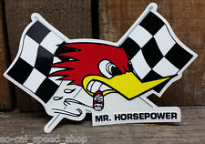 CLAY SMITH CHECKERED FLAG DECAL HOT ROD RETRO VTG GASSER RACING ROADSTER STICKER