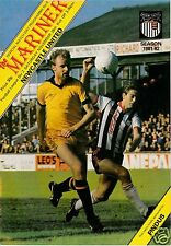 GRIMSBY TOWN   V NEWCASTLE UTD  2ND  DIVISION  28/11/81