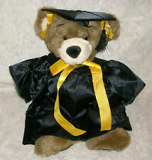 "14"" BUILD A BEAR BROWN BEAREMY GRADUATION TEDDY BEAR STUFFED ANIMAL PLUSH TOY"