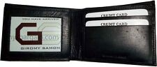 Men's Soft Leather Wallet 6 Credit Card Holder ID windows 3 Bifold Wallet BNWT