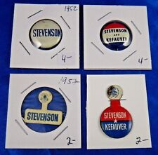 Adlai Stevenson Presidential Campaign Political Pins Pinbacks Buttons Lot of 4