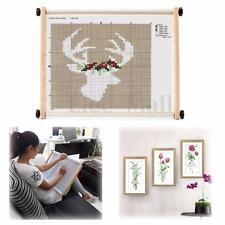 Adjustable Embroidery Hoops Frame Bamboo Wooden Cross Stitch Needle Sewing DIY