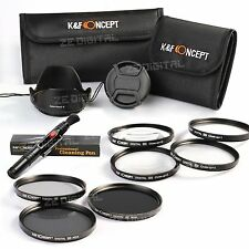 72 ND2 4 8 Neutral Density Close-Up +1 +2 +4 +10 Macro Lens Filter Kit for Canon