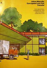 Johns Manville ASBESTOS Transite DUST WARNING !!! 1975