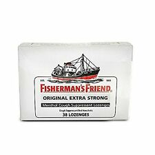 5 Pack Fisherman's Friend Original Extra Strong Menthol 38 Lozenges Each