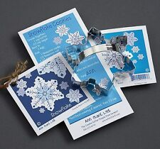 NEW Ann Clark Tin Snow Snowflake Cookie Cutter w/ Recipe Attatched Made USA