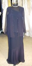Junnie Leigh Style 1174 special occasion / mother of - Size 12 Navy (junnie-1)