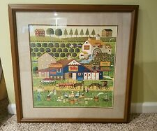 """Apple Butter Makers"" Charles Wysocki, Signed, Framed, Matted Lithograph776/1000"