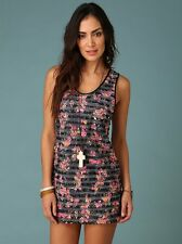 ANTHROPOLOGIE FREE PEOPLE RUFFLED FLOWERS SHIFT DRESS FLORAL - LARGE