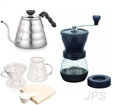 Hario V60 Kettle Brewer Set & Coffee Mill Three Products First set Sold Together