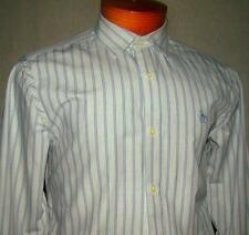 ORIGINAL PENGUIN GRAY BLUE STRIPED CASUAL OR DRESS SHIRT SMALL 15 34