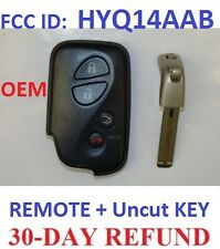 Uncut KEY FOB KEYLESS REMOTE SMART TRANSMITTER CLICKER CONTROL for OEM HYQ14AAB