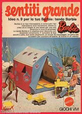 Pubblicità Advertising 1974 MATTEL tenda BARBIE