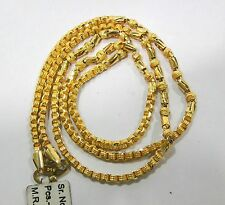 VINTAGE SOLID 22 K GOLD HANDMADE CHAIN NECKLACE RAJASTHAN INDIA