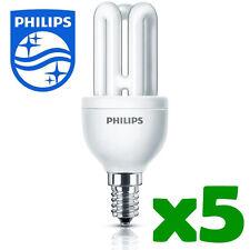 5 X Philips ahorro de energía Bombilla pequeñas Tapa A Rosca ses E14 8w/40w Moda 2422