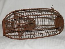 ANTIQUE PRIMITIVE WIRE MOUSE TRAP 1800's Early Live Catch, rounded wire