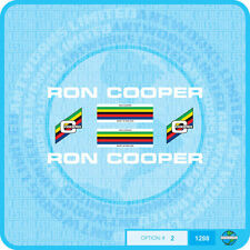 Ron Cooper Bicycle Decals Transfers - Stickers - Set 2