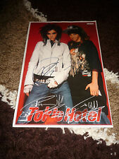 TOKIO HOTEL Bill & Tom Kaulitz signed 8x12 inch autographcard InPerson in Berlin