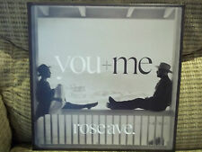 YOU + ME - ROSE AVE. LP BLACK VINYL NEVER PLAYED PERFECT CONDITION CITY AND PINK
