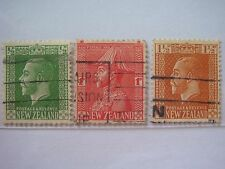 1915 New Zealand King George V Stamps, Used - Lot#1