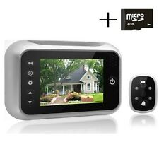 Front Door Camera Digital Peephole Video Viewer Night Vision Photos Record LCD