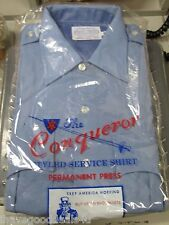 Conqueror 66LSSBP Light Blue Short Sleeve Police Uniform Shirt Size Mens Medium
