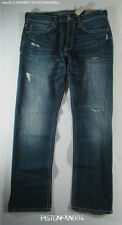 American Eagle Mens Dark Tinted Destroy Relaxed Straight Jeans 38x34 NWT