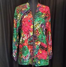 Vtg Carole Little Petite Nothing Matches Jacket Tie Front Beads Artsy Boho Sz ?