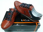 Mens Lacuzzo Red Italian Leather Trainers LD145/09 size 6