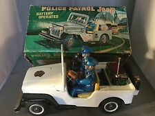 Nomura TN Police Patrol Jeep Battery Operated Tin Toy boxed