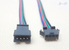 2x JST-SM 4-Pin (4P) Connector Pairs (4M & 4F); WS2801 LPD8806 Addressable Ld
