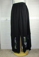 Vista Pants Black Thermal w/ Art Nouveau by Blue Fish Red Moon Clothing