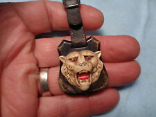 ANTIQUE WATCH FOB **CELLULOID TIGER HEAD**