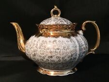 Sterling China Gold and white Vintage Tea Pot