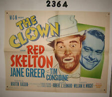The Clown Original 1/2sh Movie Poster 1953 R63 Red Skelton in full make up!