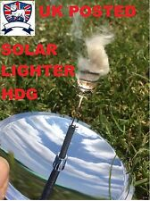 SOLAR FIRE LIGHTER STARTER SURVIVAL ARMY TA BUSHCRAFT EMERGENCY Parabolic Mirror