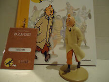 TINTIN FIGURES in polyresin with aprox.12cm. Book + Figure + Passport L.Edition