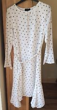 NWT Ladies Autograph M&S White Mix Lined Size 14 Dress