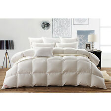 Snowman White Bafflle Box Goose Down Duvet 100% Egyptian Cotton Cover,Queen Size