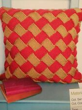 Knitted Entrelac Cushion Knitting Pattern