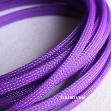 8mm Purple Expandable Braid DENSE Speaker Audio Cable Sleeve Cover 1m