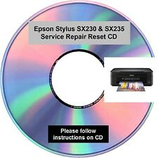 Engineers Repair / Reset CD for the Epson Stylus SX230 & SX235