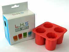ICED SHOTS - SHOT GLASS SILICONE MOULD ICE TRAY (RED) *** Brand New ***