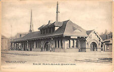 c.1905 Erie Railroad Station Middletown NY post card Orange County