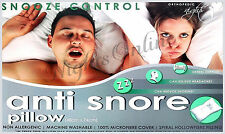 LUXURY anti-snore SNOOZE control, supporto testa hollowfibre Cuscino