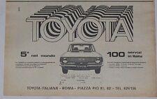 Advert Pubblicità 1972 TOYOTA COROLLA E20
